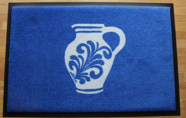Fußmatte blau mit Bembel