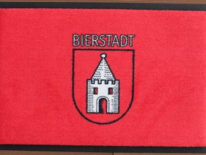 Fußmatte mit Bierstadt Wappen Rot Wartturm