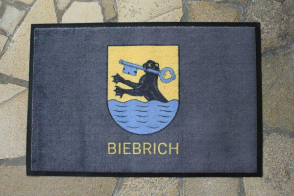 Wiesbaden Biebrich Wappen Vorort Fußmatte