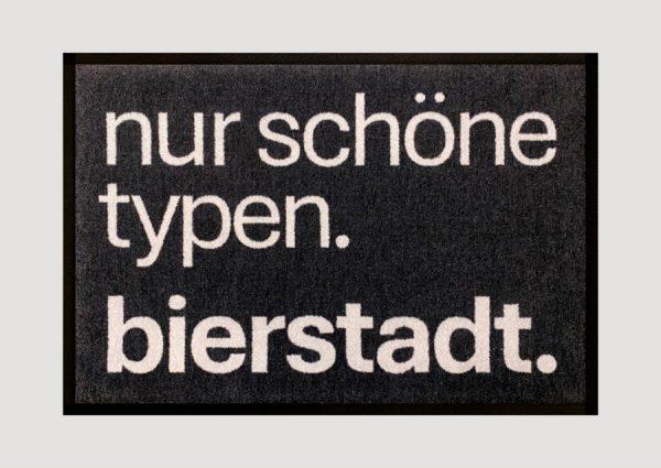 Bierstadt Doormat mit der BIERSTADT Typo für alle Typografie Begeisterten oder Wiesbadenlover